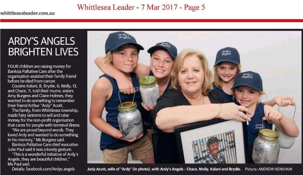 Ardy's Angels raise $3,402.05 for Banksia